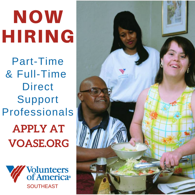 now hiring direct support professionals